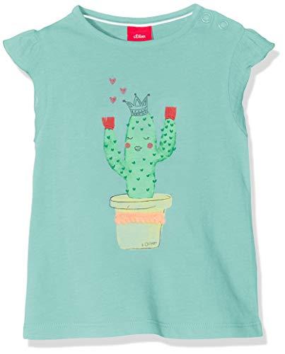 s.Oliver Baby-Mädchen 65.904.32.5643 T-Shirt, Türkis (Mint 6117), Herstellergröße: 68 -