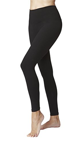 Women's Lightweight Tummy Control Standard Waist Leggings-Black-X-Small (36) -