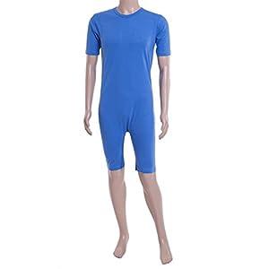 Care Better | Pflegebody, Pflegeoverall mit Kurzen Armen und Beinen, Farbe Hellblau, S-XXXL