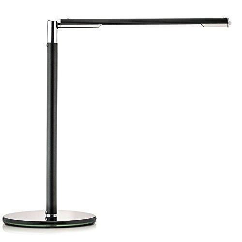 Design LED Schreibtischlampe 5W Tischlampe 3-Helligkeitsstufen, Schreibtisch Lampe dimmbar, Schwarz - 5w Led-schreibtisch-lampe