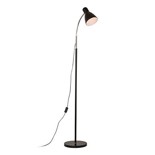 LEGELY Moderne Stehlampe schwarz Metall Shade für Wohnzimmer Schlafzimmer dekorativ Stehendes Licht, höhenverstellbar