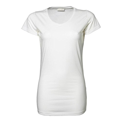 Tee Jays - Ladies Stretch Tee Extra Long XL,White (Shirt Stretch-bluse)