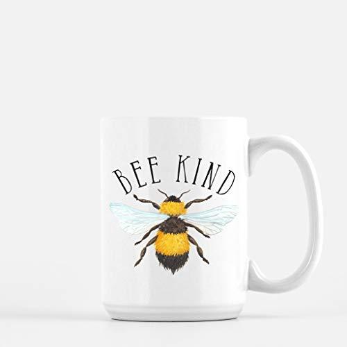 Bienen-Kaffeetasse Bienen-freundliche Punny-Kaffeetasse Lustige Kaffeetasse Bienen-Becher Seien Sie freundliche Kaffeetasse Bienen-freundliche Kaffeetasse Speichern Sie die Bienen Hummelbienen