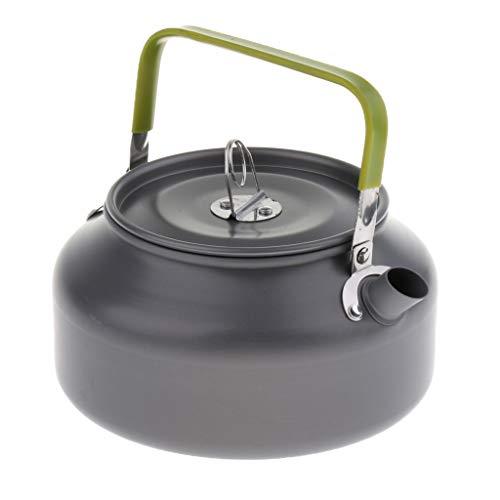 perfk 1,2 L Camping-Geschirr aus Aluminium Wasserkocher mit Faltbar Griff