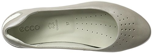 Ecco Damen Sense Light Geschlossene Ballerinas Grau (50555MOON ROCK-SILVER/WHITE)