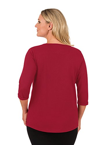 Trigema Damen T-Shirt Rot (Rubin-C2C 536)