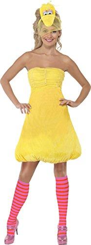 Smiffys, Damen Bibo Kostüm, Kleid, Haarreif und Strümpfe, Sesamstraße, Größe: XS, 38677