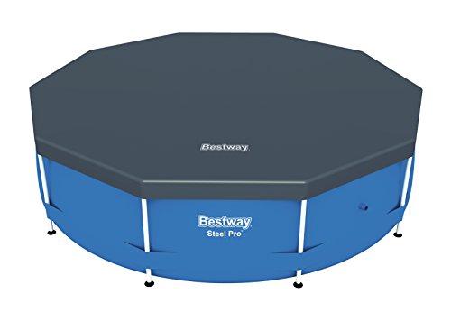 Bestway 58036 - Cobertor de PVC para piscinas Steel Pro de 305 cm de diámetro