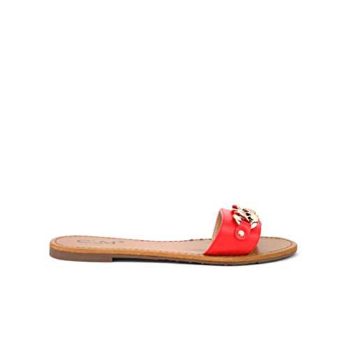 Cendriyon Tong Rouge CM Mode Chaussures Femme Rouge