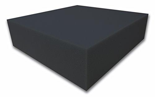Dibapur ® Akustikpur glatt schwarz Raum Akustik Schaumstoff Dämmung Schallschutz (100x200x10cm)