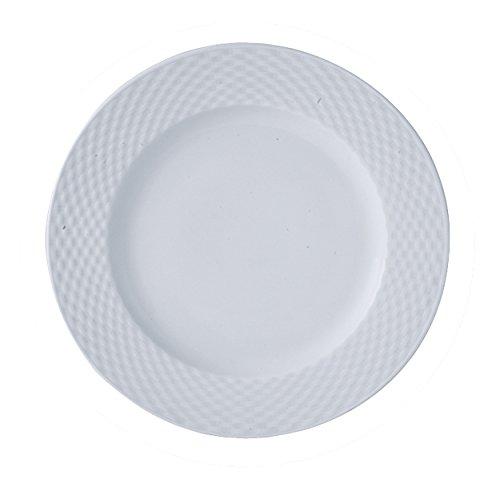 TheKitchenette Lot de 4 Assiette Plate 20cm en Porcelaine Blanche Polo