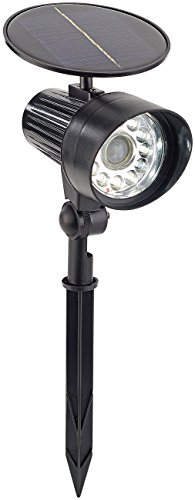 Royal Gardineer Gartenleuchte: 2in1-Solar-LED-Wand- und Wegeleuchte mit PIR-Sensor, 1 Watt, 80 Lumen (Lampe mit Bewegungsmelder)