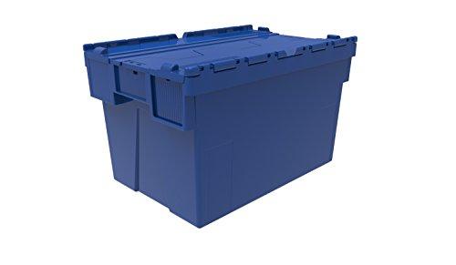 5 x Farbe: beigefügten Plastikbox mit Deckel, 65 Liter, Rot, Blau oder Grün, Kunststoff Box Crate Handtasche mit Tessellated-Lid-Design, mit Deckel (Kunststoff Handtasche Tote)