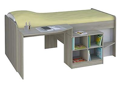 Kidsaw Pilot Cabin Bed Frame, Elm, 195 x 137 x 80 cm