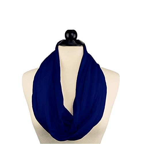 Versenkte Reißverschluss ([dIcken]Winter Reißverschlusstaschen Tücher für Frauen Cabrio Infinity Schal Wrap (Königsblau))