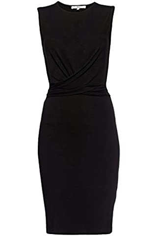 FIND Robe Droite Femme, Noir (Black), 38 (Taille Fabricant: Small)