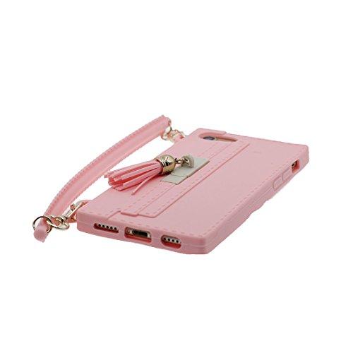 iPhone 7 Custodia, TPU protezione iPhone 7 Copertura 4.7, Case Cartoon Tdurevole Cover - ( 3D borsetta ) - iPhone 7 shell 4.7 rosa rosa