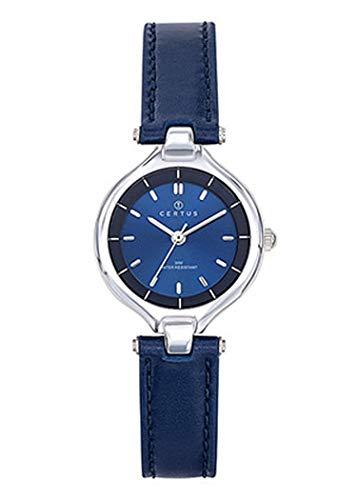 Certus–Reloj Mujer–h644m544–Pulsera Cuero Azul–Caja Acero–Reloj Color Azul