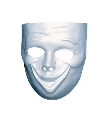 Weiße Gesichts Maske (Maske Komödie Weiße)