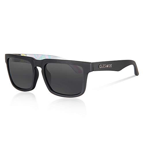 Queshark Gafas de Sol Polarizadas Shades para Hombres Lente Cuadrada Espejo Vintage (C03)