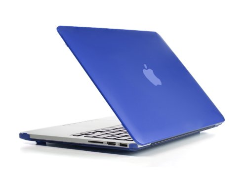 Blau mCover Hardshell Case für MacBook Pro 13 Zoll mit Retina Display ohne DVD (**mit einem klaren Silikon Tastatur Hautschutz gratis**) (Modell A1502 & A1425)