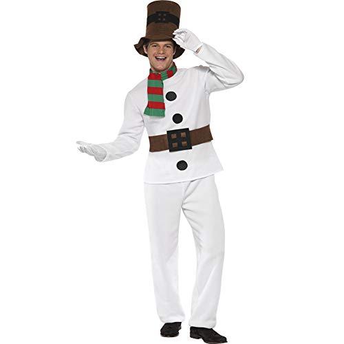 (CVCCV Weihnachten Cosplay Spiel Kostüm weiße Weihnachten Kostüm Schneemann Weihnachten Kostüm Männer Polyester Stoff)