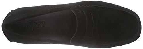 Armani Jeans 0658855 Herren Mokassin Schwarz (NERO - BLACK 12)
