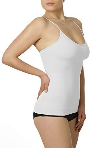 SLEEX Figurformendes Damen Unterhemd (mit feinen Traegern), Weiss, Groesse L/XL Shapewear Top -