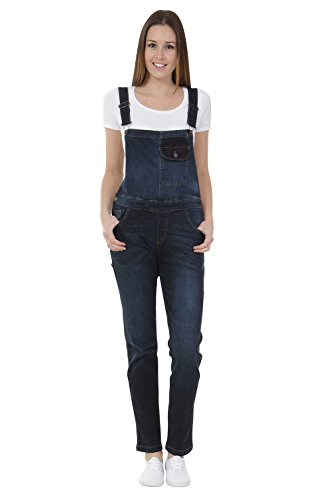 Damen Latzhose - Regular Fit Overalls für damen Darkwash Denim OLIVIADARK-18