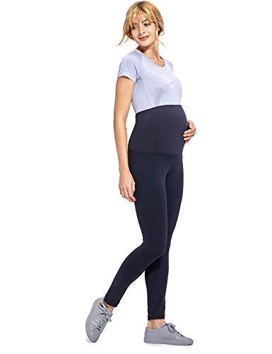 Gratlin Leggings para Maternidad Pantalones Premama Embarazadas Mujer Azul marino XL