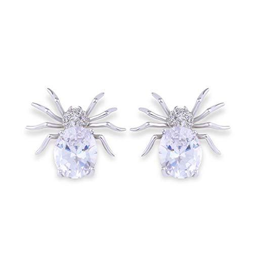 Kostüm Schmuck 1 Paar Spinne Ohrringe Ohrstecker Für Damen 925 Silver ()