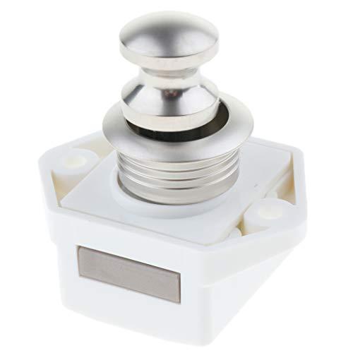 Homyl 15-20mm Push Lock Möbelschlosser Möbelgriff Schloss für Camping Boot Möbel Wohnwagen - Knopf Lock Baby