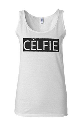 Celfie Selfie Alone Meow Novelty White Femme Women Tricot de Corps Tank Top Vest **Blanc