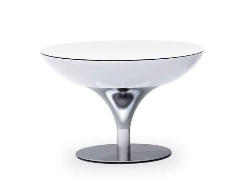 Moree Lounge Tisch Beleuchtet, Ø 84 Cm, H 75 Cm, Abs Glänzend