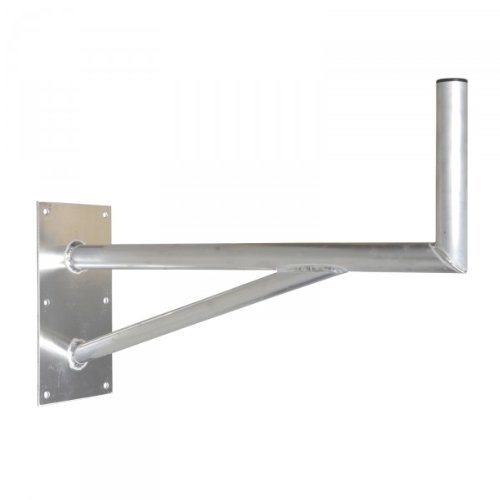 PremiumX 80cm SAT-Halterung mit Stützelement ALU Auslegerlänge = 800mm Auslegerhöhe = 300mm Grundplatte = 400x200mm Wandhalter 80 cm