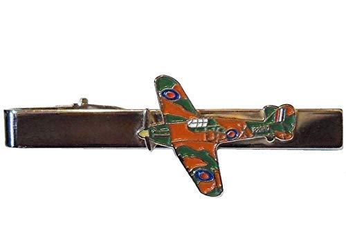 Enamel World RAF Battle of Britain Hurricane Pilot Flying Veteran WW2 Metall Emaille Krawattenklammer (Hurrikan Breit)