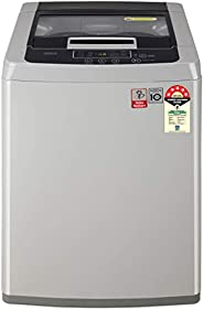 LG 7.0 Kg 5 Star Smart Inverter Fully-Automatic Top Loading Washing Machine (T70SKSF1Z, Middle Free Silver)