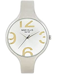 Mike Ellis New York Damen-Armbanduhr Streamline Analog Quarz Kunstleder SL3181N