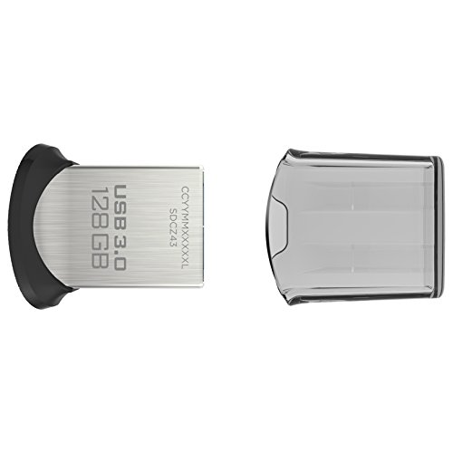 Memoria flash USB 3.0 SanDisk Ultra Fit de 128 GB  velocidad de lectura de hasta 150 MB/s