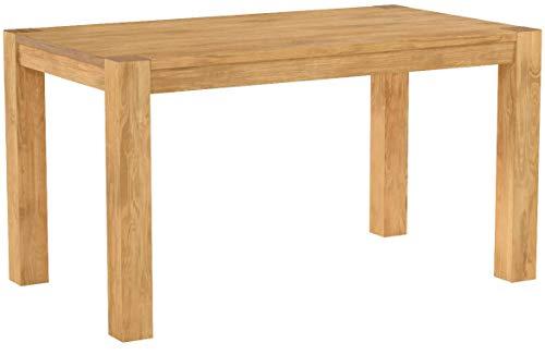 Esstisch ,,Rio Bonito,, 140x80 cm, Pinie Massivholz, geölt und gewachst, Holz Tisch für Esszimmer, Wohnzimmer Küche, Farbton Honig hell, Optional: passende Bänke und Ansteckplatten