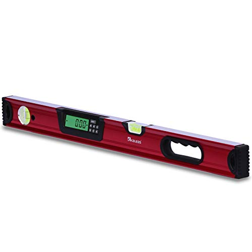 Neu Kaleas Professional Digitale Wasserwaage 70cm, elektronischer Neigungsmesser, Präzisions Libellen 0.4mm/m, Hightech Sensor ±0,05°, Handgriff, Aluminium Profil, Schutz-Tasche (34182)