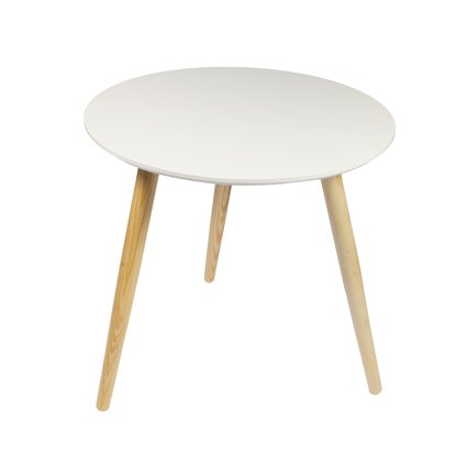 Woodluv Retro Mdf Round Side Coffee Dining Lamp End Table 48 X 46cm Search Furniture