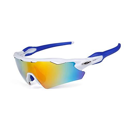 KnSam Winddicht Uv-Beständig Schutzbrille Baustelle Kratzfester Scheibe Panoramablickfeld Weiß Blau Schutzbrille