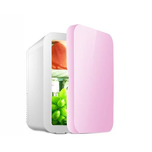 Yuany Mini Petit réfrigérateur, Protection de l'environnement A ++ ménage Petit réfrigérateur 8L Voiture réfrigérée à Double Usage,Pink,8L