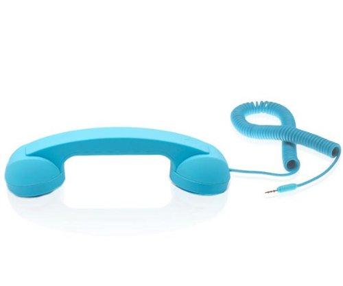 Native Union POP Phone Handset mit 3,5mm Klinkenstecker für Rechner und Handy blau