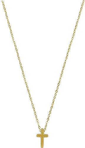 Kette - Halskette mit Kreuzanhänger: (vergoldet)