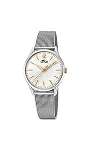 Lotus Watches Reloj Análogo clásico para Mujer de Cuarzo con Correa en Acero Inoxidable 18408/1