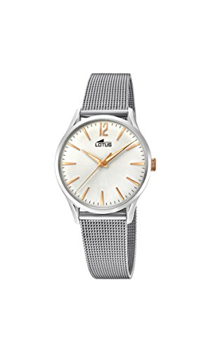 Lotus Watches Womens Analogue Classic Quartz Watch with Stainless Steel Strap 18408/1
