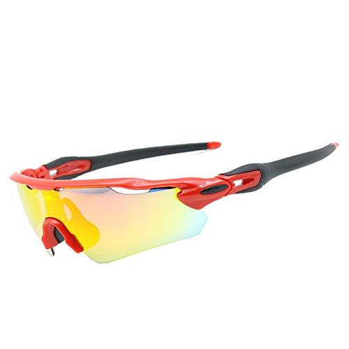Coniea Radbrille Winddicht TR Radbrille Herren Polarisiert Sport Sport Sonnenbrillen Rot Schwarz