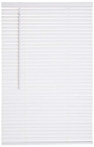 Lotus & Windoware Kabellose 2,5 cm Vinyl-Jalousie, 66 x 183 cm, Weiß - Vinyl Weiss Jalousie
